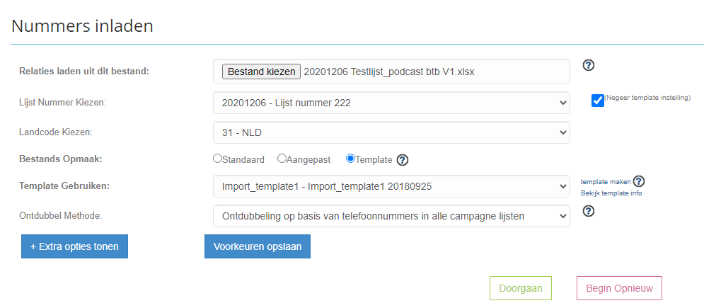Telforce callcenter software leads uploaden vanuit excel